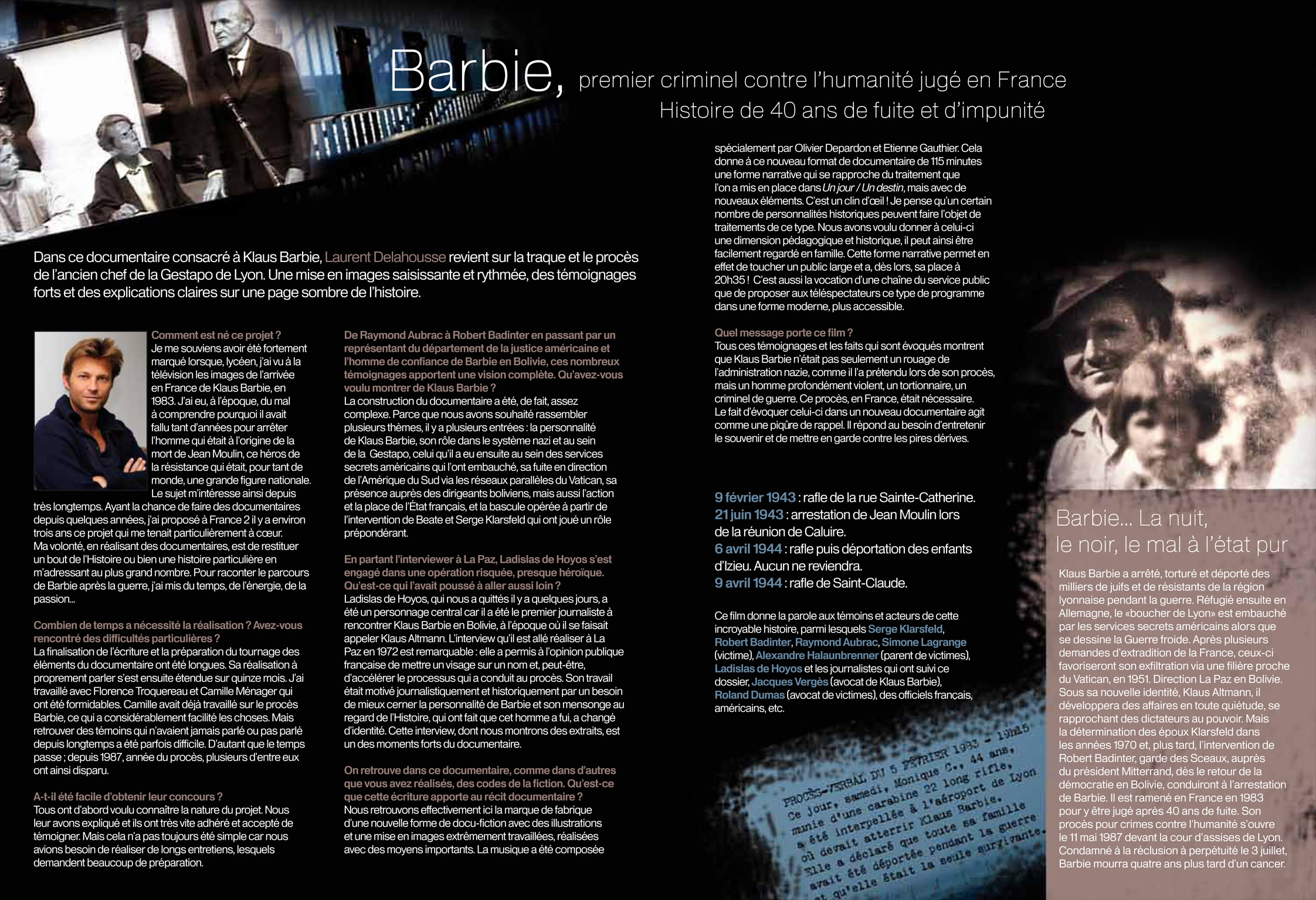 plaquette klaus barbie Klaus Barbie   Sur les traces dun criminel nazi